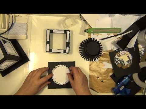 TUTORIAL how to make a lantern out of paper and Tim Holtz' window die - YouTube