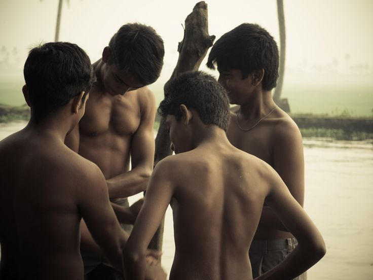 Swimmer boys by the backwaters II. Fujifilm X20