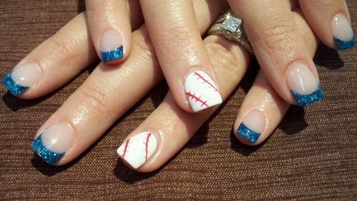 Easy Nail Art Designs Gallery Collection...take me out to the ball game!!