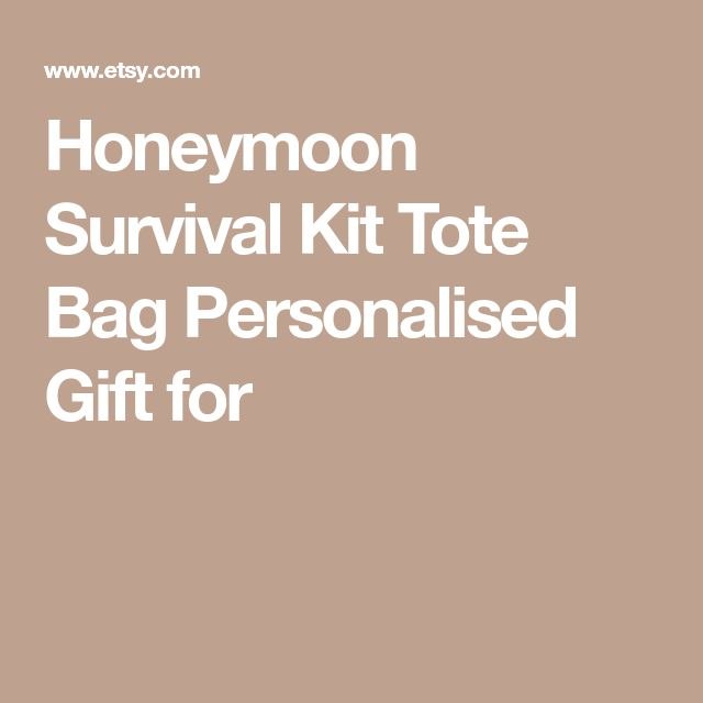 Honeymoon Survival Kit Tote Bag Personalised Gift for