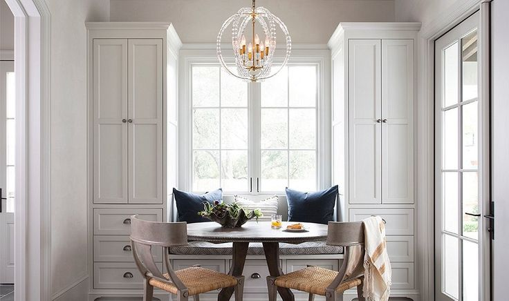 Whether it's for sitting down to enjoy a quiet cup of tea or setting a spread of eggs and toast for the fam, a well-situated breakfast nook can play a key role in your home.