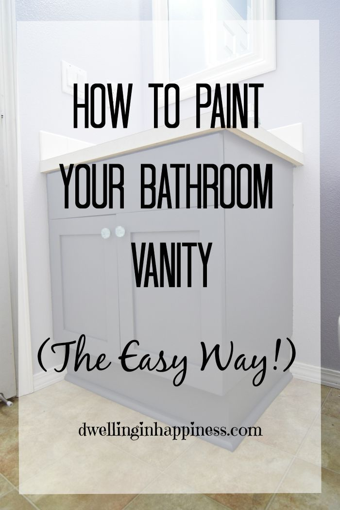 How to paint your bathroom vanity (the easy way!). There's no heavy sanding or priming; just a simple few step way to get your vanity looking new and fresh!