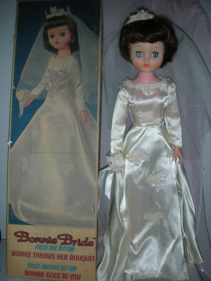 Vintage Deluxe Reading Bride Doll Mint In Box Mechanical