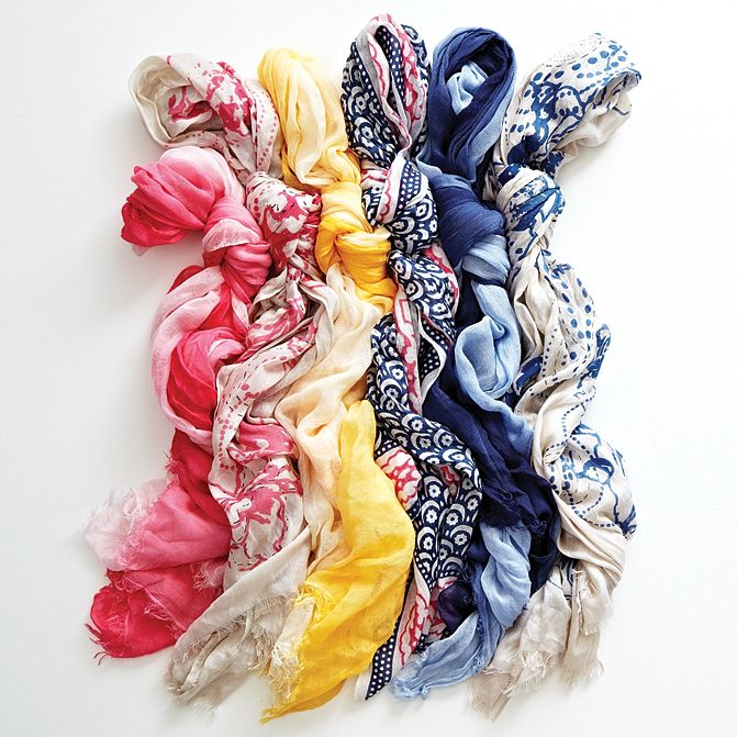 What's better than a springtime rainbow? A rainbow of spring scarves!
