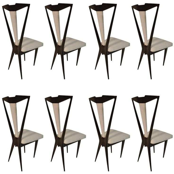 Outstanding Set of Eight Italian Dining Chairs 1