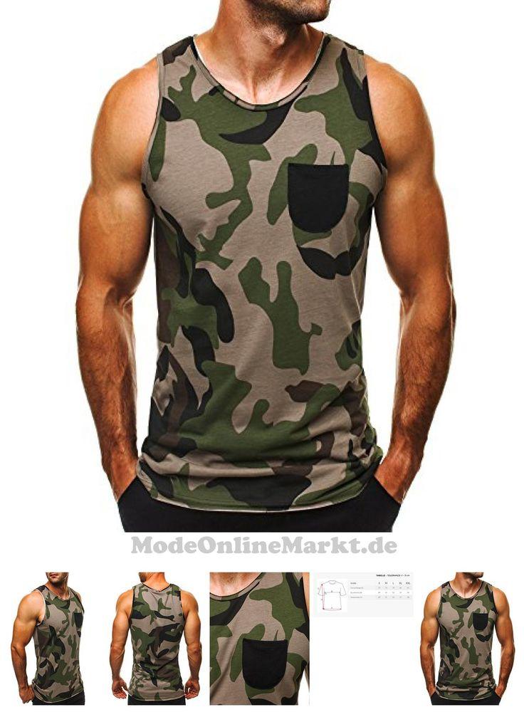 | #OZONEE #Herren #Tanktop #Tank #Top #Tankshirt #T-Shirt mit #Print #Unterhemden #Ärmellos #Weste #Muskelshirt #Fitness #ATHLETIC #1085 #DUNKEL-GRÜN #S