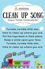 Clean up song- easy chant to remember