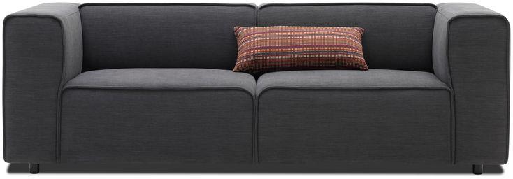 Carmo Sofa mit dunkelgrauem Lux Felt Stoff  #boconcept #scandinaviandesign #interiordesig #design #interior #homedecor
