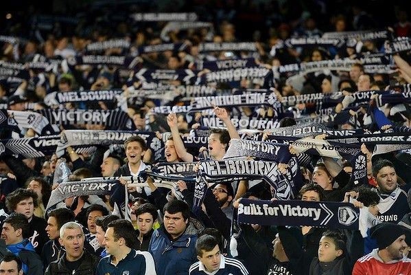 Melbourne Victory fans at the MCG. 24 July 2013.