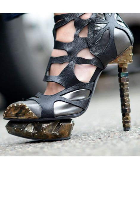 Sculptural shoe by Rodarte