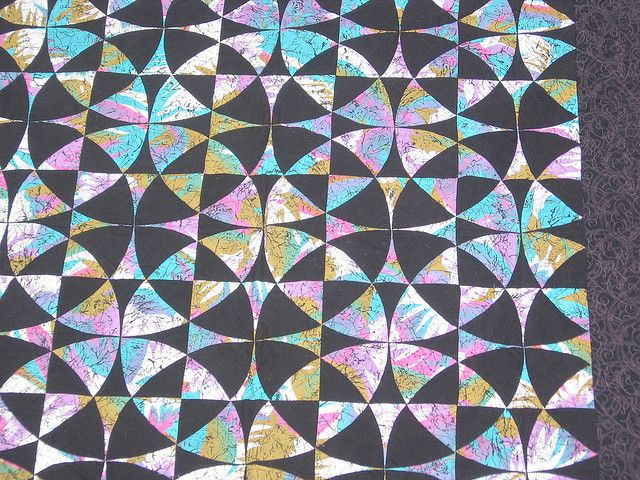 """""""Tropical Nightways"""" (a Winding Ways quilt) by veryty, via Flickr"""
