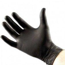 Black Latex Gloves Large (Pack of 10)