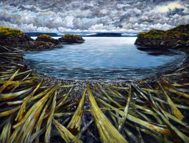 Driftwood Beach, B.C. by Melissa Jean, Acrylic on Canvas, Painting   Koyman Galleries