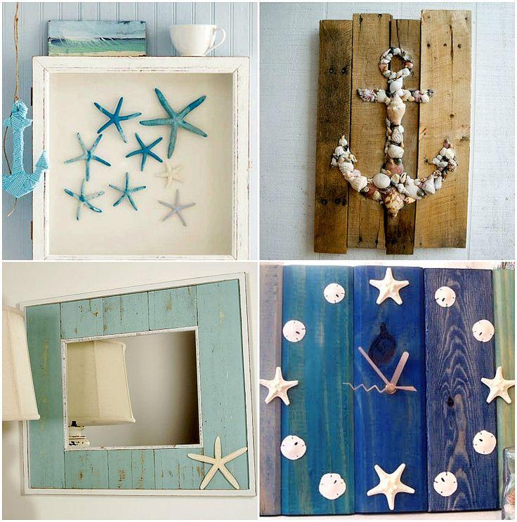 objetos -de decoração-conchas do mar                              …