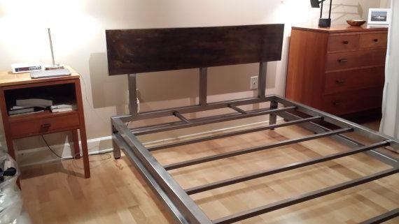 Modern Industrial Platform Bed Frame by JevWorks on Etsy, $2350.00