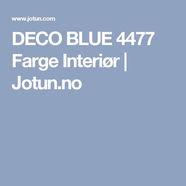 DECO BLUE 4477 Farge Interiør   Jotun.no