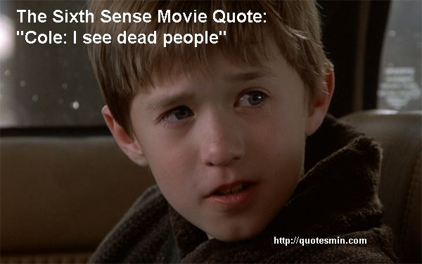 An analysis of the movie the sixth sense