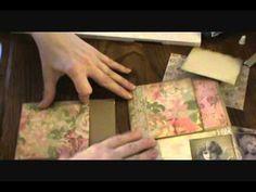 Vintage Lady Pocket Tag/Mini Album Insert Tutorial - YouTube