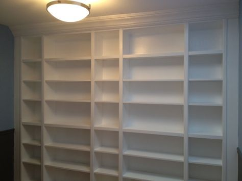 Bookcase out of Ikea Billy bookcases