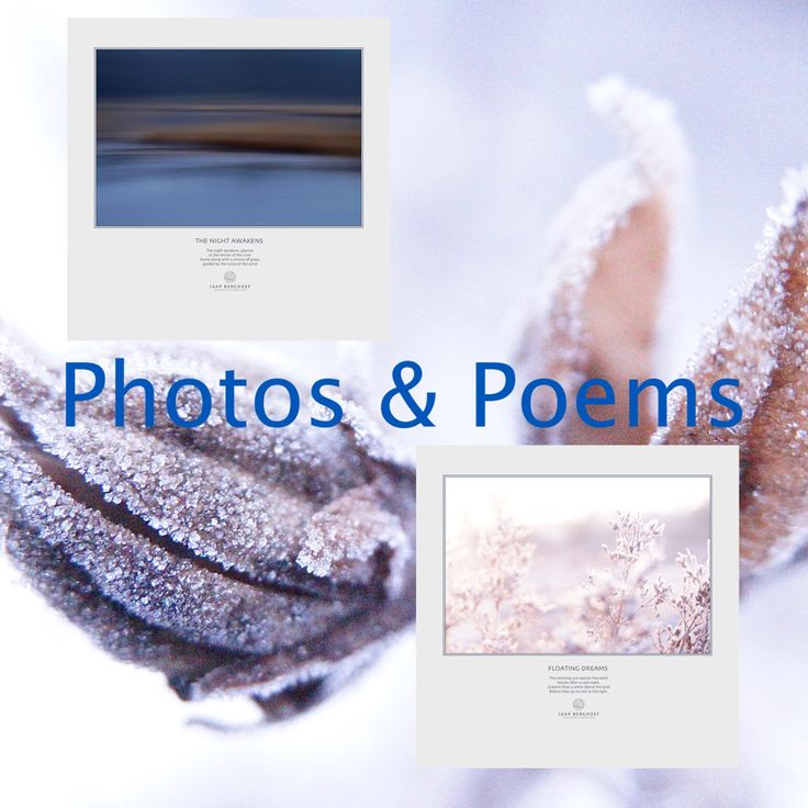 In recent months I received many positive responses to the short poems and subtitles that accompany my photos. From now on, it is also possible to order my photos including those texts, as shown in…