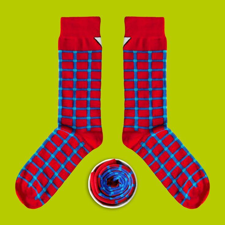 Model: Czerwono - niebieskie skarpety w kratę Seria:  Unkeyboardinated [|] #cupofsox #skarpetki #skarpetka #socks #sock #womensocks #mensocks #koloroweskarpetki [|]