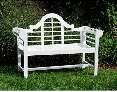 "Outdoor Lutyens 54"" garden bench.   Benches on Hayneedle - Outdoor Benches For Sale"