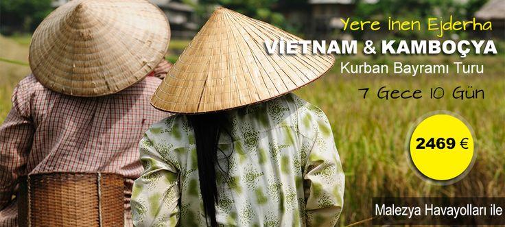 Kamboçya'nın Lotus çiçekleri,Vietnam'ın pirinç tarlaları arasında tatilinizi geçirebileceğiniz çok farklı bir dünya, Kurban  Bayramı Tayland Turu, Thailand
