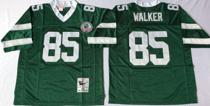 New York Jets #85 Wesley Walker Green Throwback Jersey