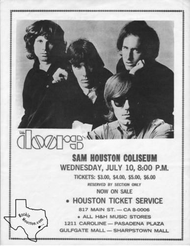 The Doors Jul 10 1968 Sam Houston Coliseum