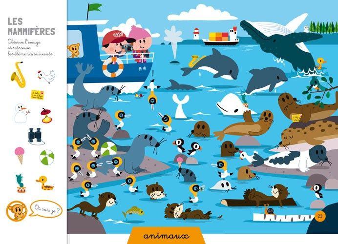 Cherche et trouve à la mer - Livre de 4 à 6 ans - Auzou Editions - Livres Ludiques & Pédagogiques