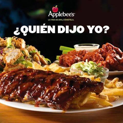 Cocina americana casual deliciosa y rica! Con tus amigos, con tus amigas o tu familia Applebee´s tiene siempre lo mejor para tí! www.recomiendo.mx