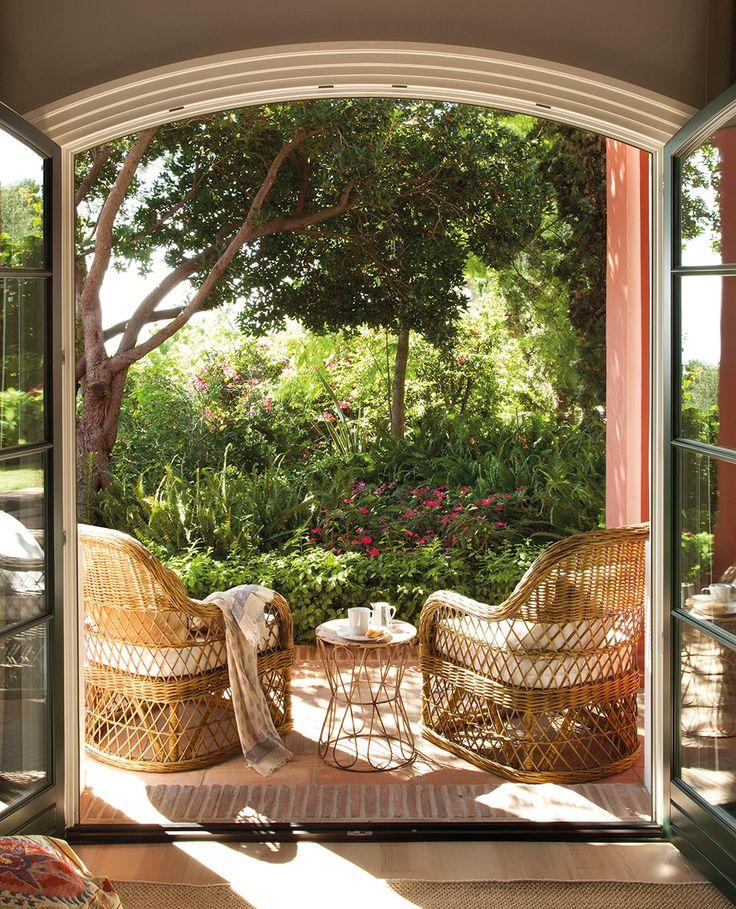 Huis: Patio Serre Balkon Veranda Tuinkamer Kas Oranjerie *Porch Conservatory Balcony Greenhouse  ~Oase Van Rust *Oasis Of Peace~