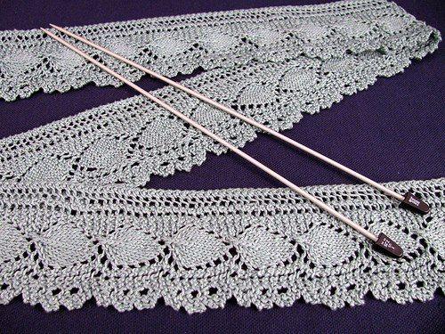 Mis Pasatiempos Amo el Crochet: Puntilla en dos agujas -Para ver esquema dar clic-Es de la Web