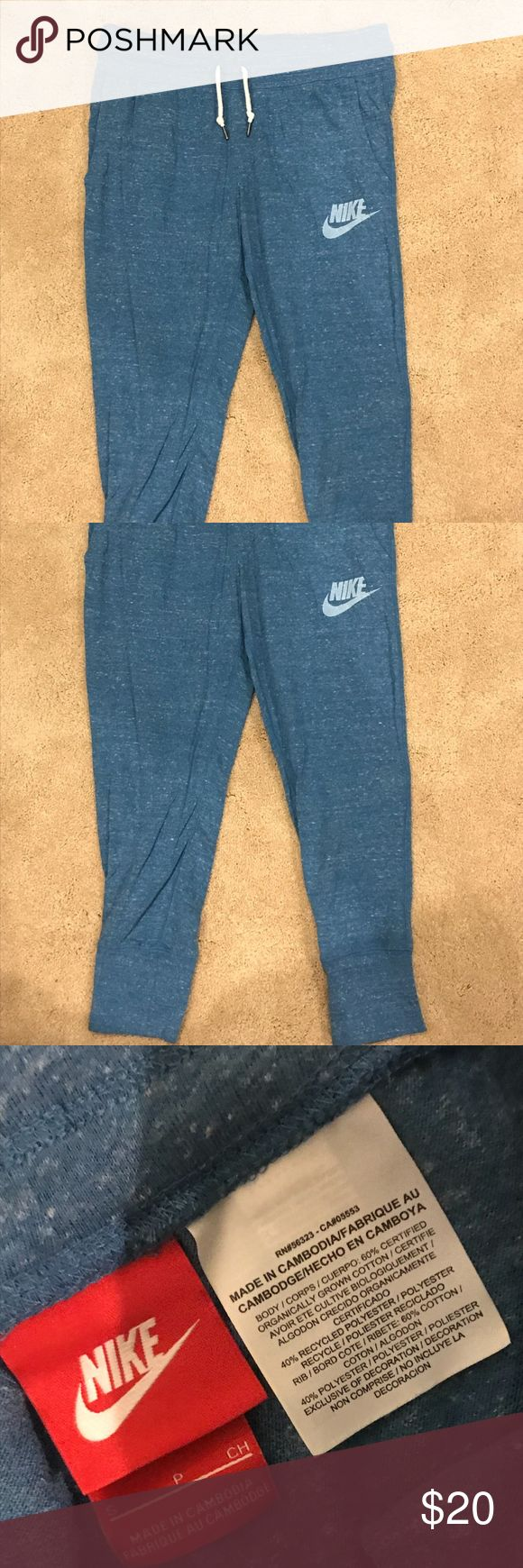Blue Nike Vintage Crop Sweat Pants/Joggers The Nike Sportswear Vintage Women's Pants are made with super-soft, cotton-blend fabric for all-day comfort and lasting wear.  Awesome condition and amazingly comfortable. Nike Pants Track Pants & Joggers