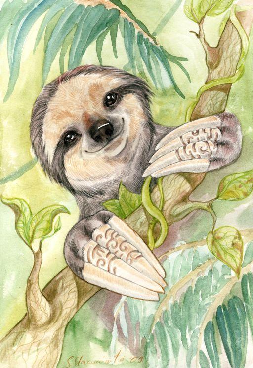 Sloth by DrunkenUnicorn.deviantart.com on @DeviantArt