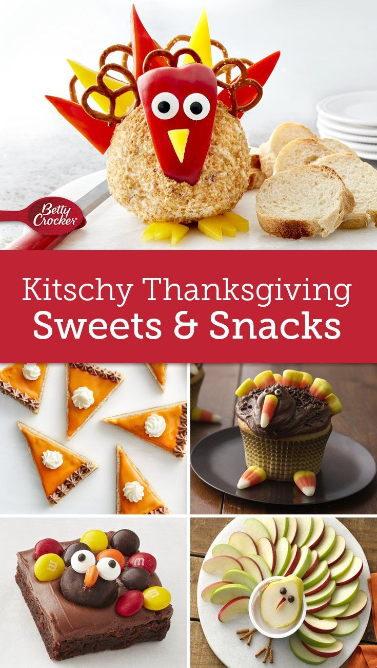 These sweets and snacks are the cutest way to celebrate the holiday. Don't miss our Thanksgiving Turkey Cheese Ball, it will be the hit of your holiday table!