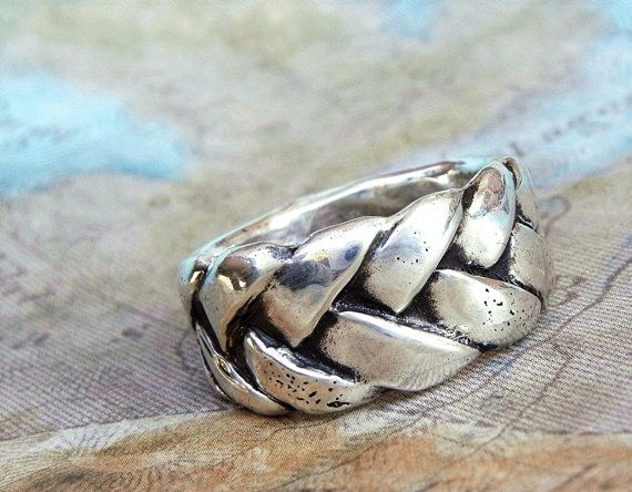 Summer Jewelry, Silver Braided Ring by HappyGoLicky $62   CLICK pic  use coupon code PIN10 to save 10% on ALL handmade jewelry #SummerFashion