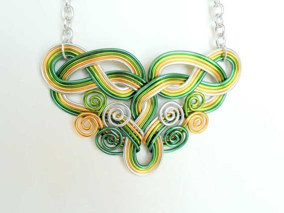 Celtic Dreams Statement Wire Work Necklace  by RefreshingDesigns, $30.00