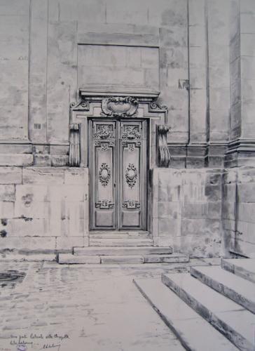 Une porte latérale de la Chapelle de la Sorbonne | Paris Musées