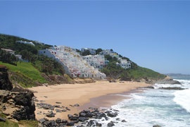 Ballito is one of the popular towns on the Dolphin coast north of Durban .