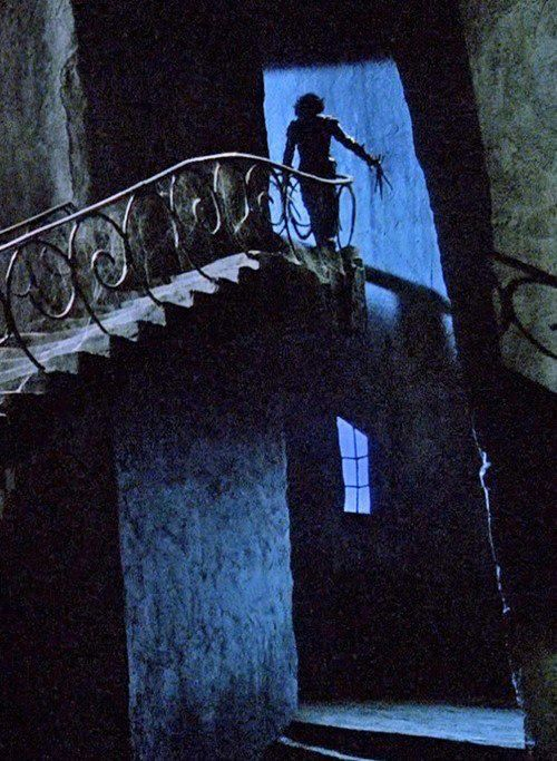 "Cool shot from ""Edward Scissorhands"" -- still one of Tim Burton's best."