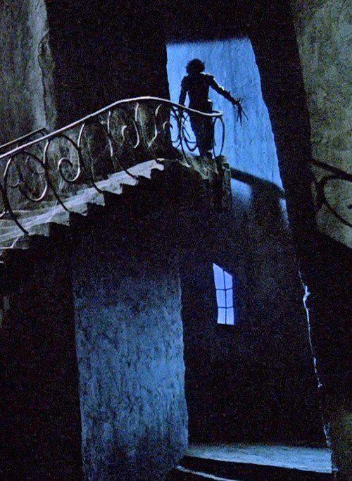 """Cool shot from """"Edward Scissorhands"""" -- still one of Tim Burton's best."""