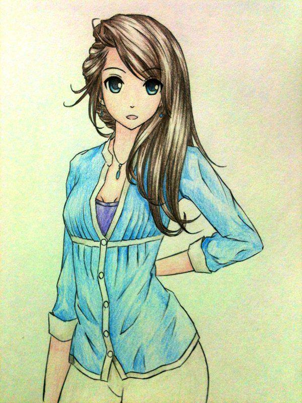55 beautiful anime drawings beautiful girl drawings and - Cool anime girl pics ...