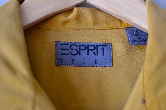 slouchy blouse / mustard / oversized button down by DearGolden, $36.00