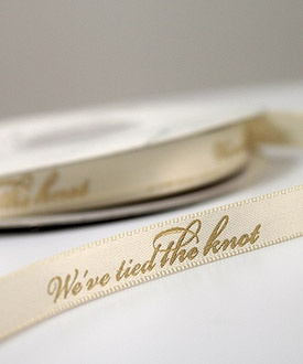 Wow Beautiful Ribbon For My Wedding Decor I Love The Ivory With Gold Wording Personalized