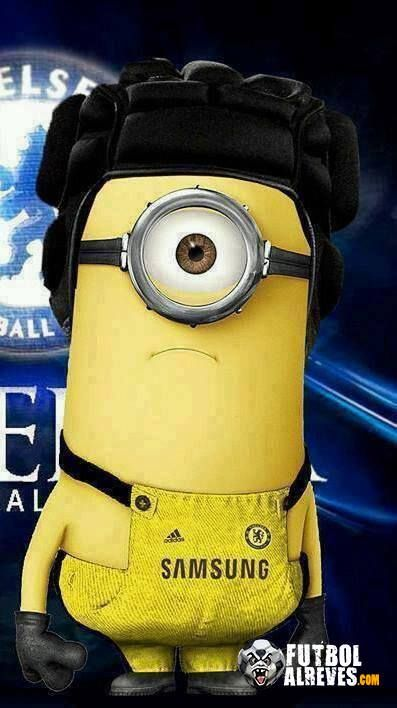 Minion Petr Cech I wouldn't be happy if i had to wear that either... aka Mother!!