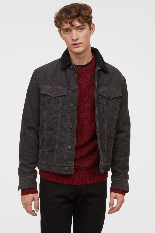 5b1121716 Pile-lined Corduroy Jacket in 2019 | Clothes | Corduroy jacket ...
