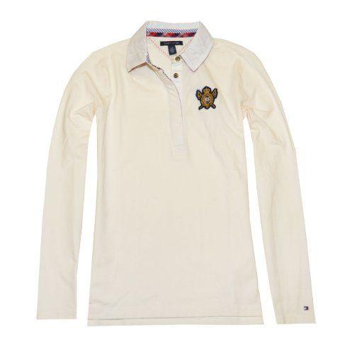 Tommy Hilfiger Women Long Sleeve Logo Polo T-Shirt