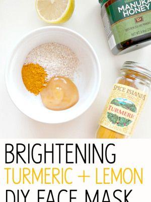 Светящиеся кожи Серия: Осветление Куркума + Лимон DIY маска для лица