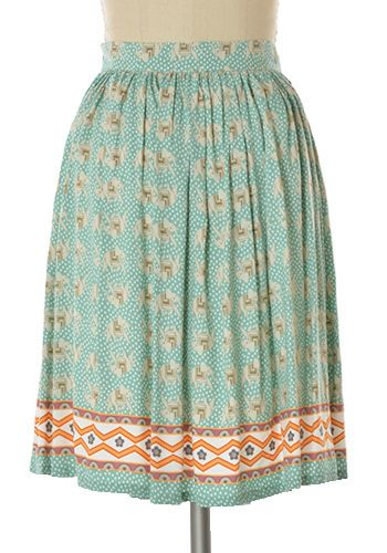 Cute and comfy elephant printed skirt. Pair with your basic tee/tank top for a cute casual look! Hip pockets. Side zipper. Main colour is sage green. Pay attention to waist measurements. 100% rayon. Not stretchy Lined Hand wash cold; hang dry Women's Vintage-Style Dresses & Accessories - Canada Trekking in Thailand Skirt -